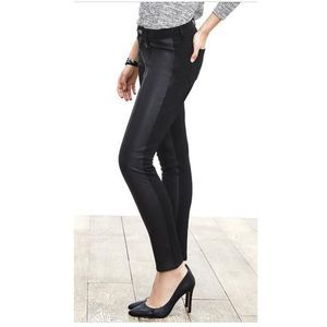 Pants - Banana Republic - Sloan Leather Front Skinny Pants